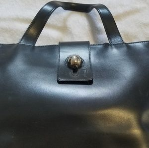 FURLA authentic black calfskin Tote